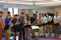 alums and big band sax section