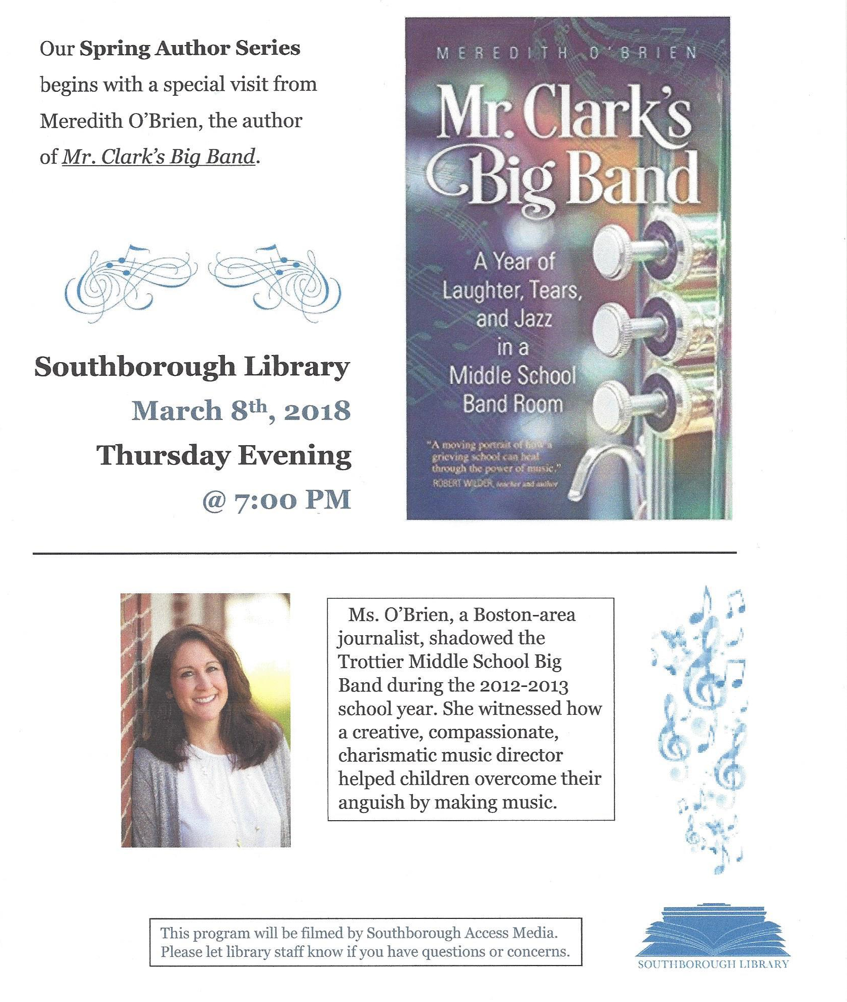 Southborough library author series